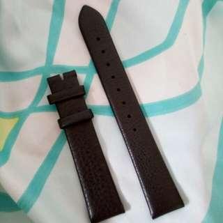 16mm啡色羊皮錶帶