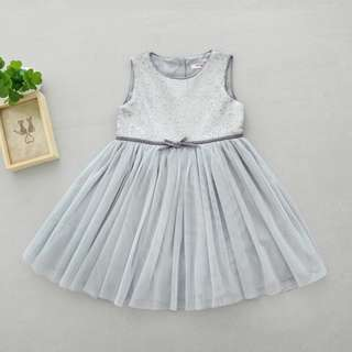 Gray Sequin Dress For Girl