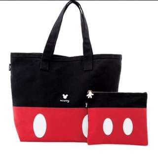 Disney Mickey Icon Casual Canvas Bag Set by gracegift