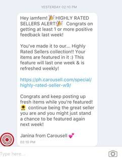 Thank you Carousell:)