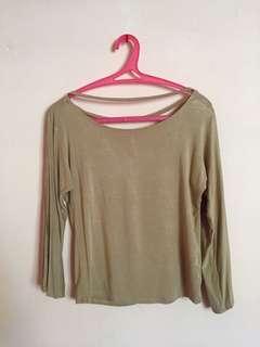 Sleeve brown top