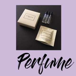 Jo Malone Sample Set Perfume Trio w/ Bonus pack