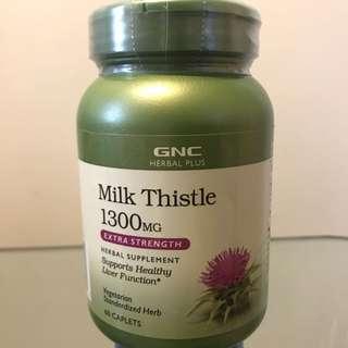 ☆肝臟健康☆適合飲酒/捱夜人士☆ GNC Milk Thistle 1300mg (60粒) 高效特強乳薊果 (2個月量)