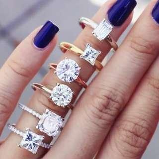 Diamond lab created Wedding Engagement Rings