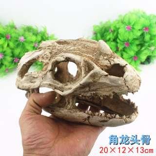 Dinosaurs Head Decor for Reptile or Aquarium Fish Tank