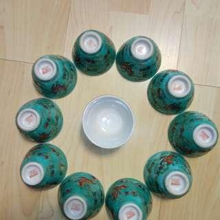 瓜瓞綿綿茶杯