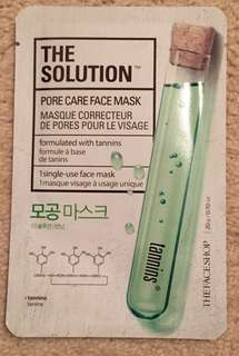 Pore Care Face Mask with Tannins
