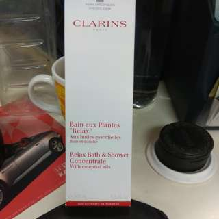 Clarins Relax Bath & Shower Concentrate.  Mfg date is Jul 16