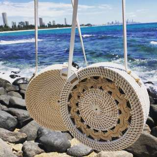 Rattan round bags