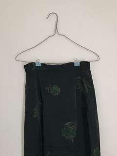 Emerald maxi skirt