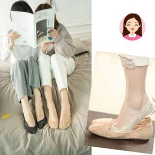 Invisible lace socks (retail S$4.9)