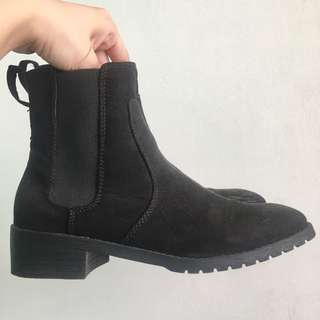 H&M Black Suede Boots (Size 37)