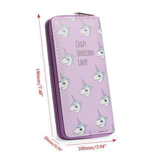 Crazy unicorn lady Long wallet
