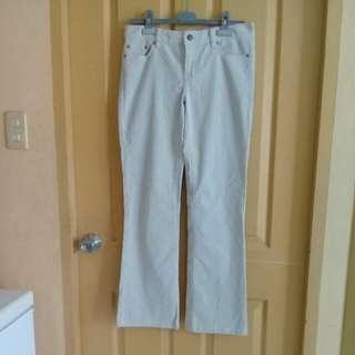 J.Crew beige low-rise corduroy pants