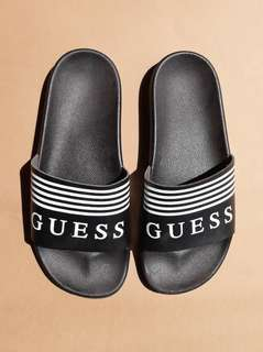 Rare Navy Guess USA Slides. Purchased in USA. Womens US8-US9.