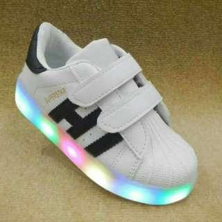 Sepatu led anak super star