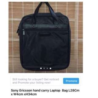 Sony Ericsson hand carry laptop bag