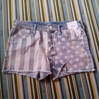 BNEW H&M Patterned Denim Shorts