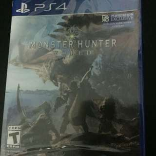 PS4 Monster Hunter World (New Sealed)