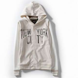 全新 白色 棒球 外套 衛衣 100% new Baseball Jacket Sweater