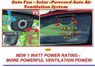 Solar Power Car Fan