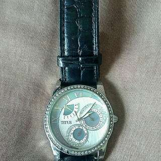 Jam tangan Uni sex Titus full swarowski authentic