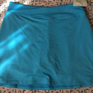 Blue swimming skort