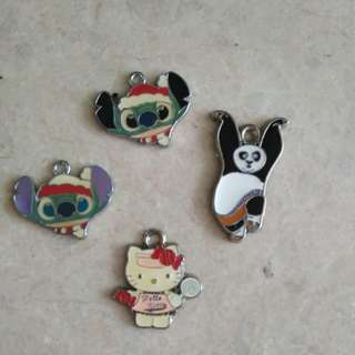 Hello Kitty Lilo and Stitch Kung Fu Panda - DIY accessories pendant hook