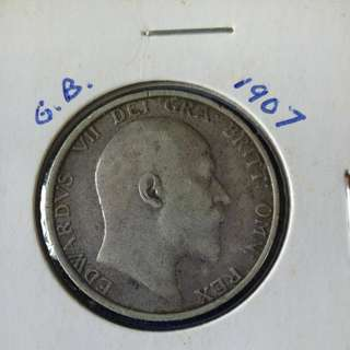 1907 GB one shilling