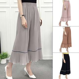 Women Clothes Trousers Solid Palazzo Wide Leg High Waist Long Loose Casual Pants