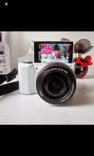Brand New Sony Alpha a5000 Mirrorless Digital Camera with 16-50mm Lens (White)