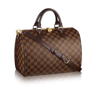 (PO) Authentic LV Louis Vuitton Speedy 25 30 Bandouliere Damier Ebene /Monogram
