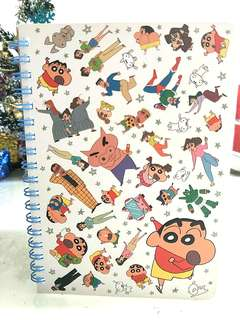 PO!! FROM JAPAN!! 100% AUTHETNIC CRAYON SHIN CHAN LINE A5 SMALL NOTEBOOK 50 SHEETS!! LIGHTWEIGHT & HANDY, CAN BE BRING AROUND EASILY!! SUPER KAWAII!! HURRY ORDER NOW!!  PO ORDER OPEN FROM NOW TILL 18 MARCH!!! ORDER WILL ARRIVE 2-3WEEKS AFTER!! HURRY!!