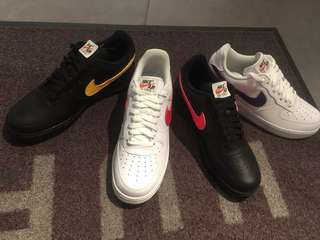 Air force 1 swoosh white/black (white sold out)