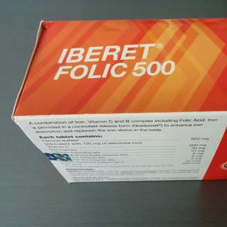 Box of Iberet Folic 500 - Iron Supplement!