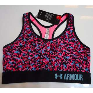 UNDERARMOUR Sports Bra (Camouflage Pink Printed)