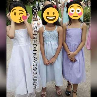 Preloved white gown for kids