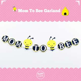 Customization Mom To Be Banner | Garland | Bunting | Flag | Baby Shower