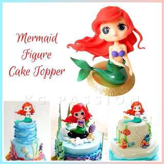 🧜‍♀️ MERMAID FIGURE CAKE TOPPER [ Ariel Theme Party • Birthday • Full Month • Baptism • Baby Shower • Christening • Event ]