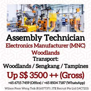 Assembly Technicians (Up $3500 Gross / North)