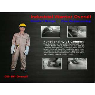 WORKING COVERALL WITH REFLECTIVE GREY SIZE M