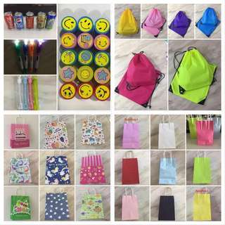 Wide range of goodie bag for children