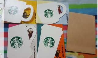 Starbucks card 猴年 日本卡 限量 1 set 4 張 值得收藏