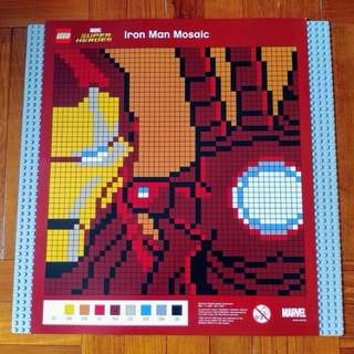 (100%新) Lego 限量版 Iron Man 馬賽克 Mosaic 畫 Marvel Picture