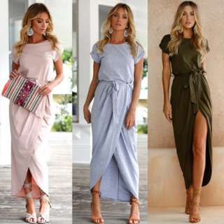 47225 Europe Short-sleeved Coveralls Dress
