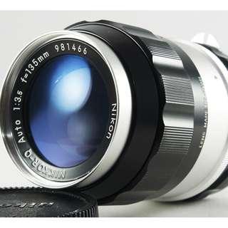 **日光銀鹽** Nikon Non-AI Nikkor-Q 135mm F3.5 定焦望遠鏡 #466