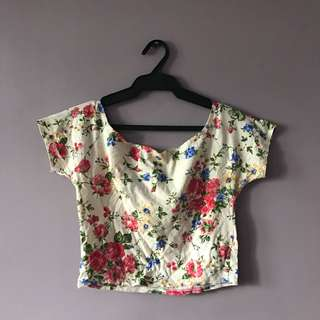 Crop top printed floral