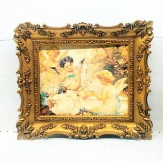 European Design Gold Colour Frame Art