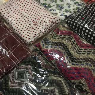 SALE ( All 6 for $30) instant Hijab bubble chiffon for Muslimah hijaber