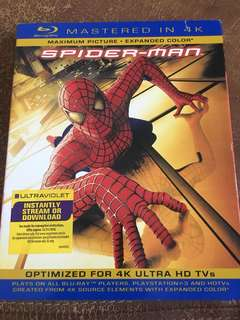 Spider-Man, mastered in 4K, blu ray